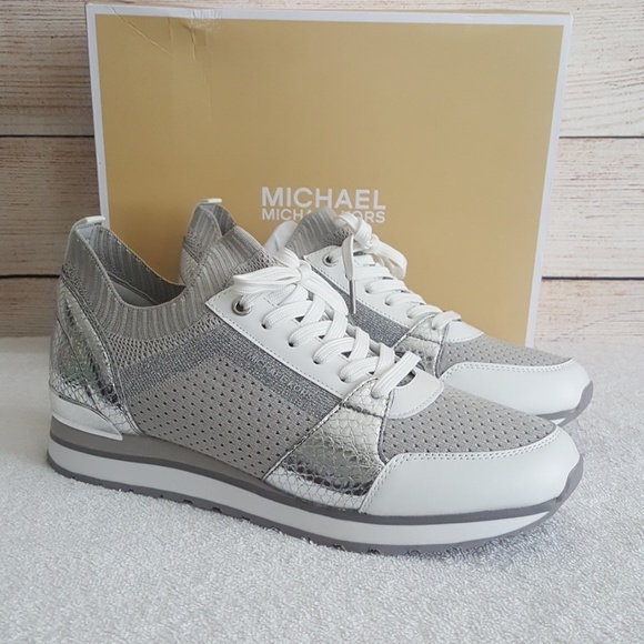 e8d68b2e733d New Michael Kors Billie Knit Trainer Sneakers